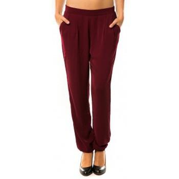Kleidung Damen Jogginghosen Dress Code Pantalon R9771 Bordeaux Rot