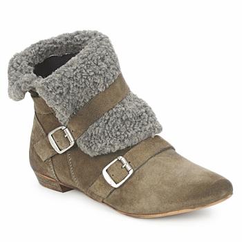 Schuhe Damen Boots Bronx CREPOU Braun / Grau