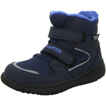 Schuhe Jungen Schneestiefel Kangaroos Klettstiefel NV 0123A blau
