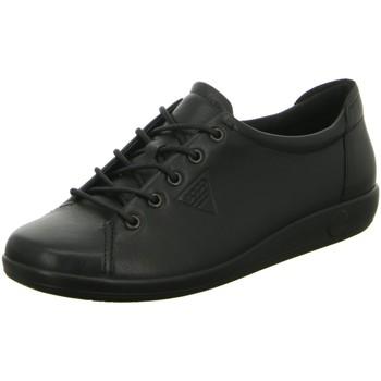 Schuhe Damen Sneaker Low Ecco Schnuerschuhe Komfort Schnürhalbschuh SOFT 2.0 206503 56723 schwarz