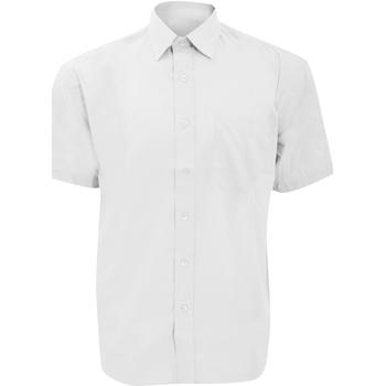 Kleidung Herren Kurzärmelige Hemden Russell 935M Weiß