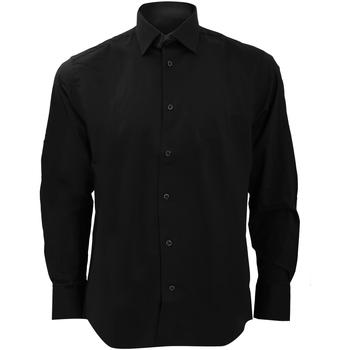Kleidung Herren Langärmelige Hemden Russell 946M Schwarz
