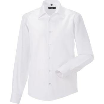 Kleidung Herren Langärmelige Hemden Russell 958M Weiß