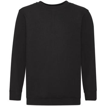 Kleidung Kinder Sweatshirts Fruit Of The Loom 62041 Schwarz