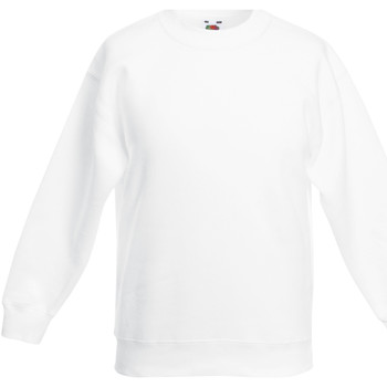 Kleidung Kinder Sweatshirts Fruit Of The Loom 62041 Weiß