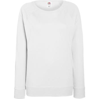 Kleidung Damen Sweatshirts Fruit Of The Loom 62146 Weiß