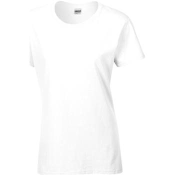 Kleidung Damen T-Shirts Gildan Missy Fit Weiß