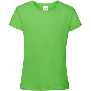 Kleidung Mädchen T-Shirts Fruit Of The Loom 61017 Limette