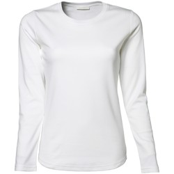 Kleidung Damen Langarmshirts Tee Jays TJ590 Weiß