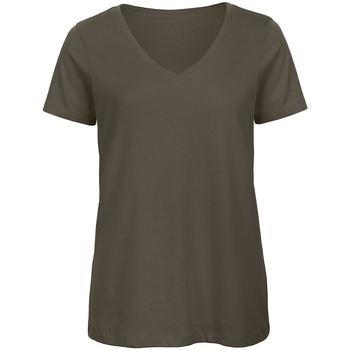 Kleidung Damen T-Shirts B And C Organic Khaki