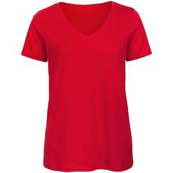 Kleidung Damen T-Shirts B And C Organic Rot