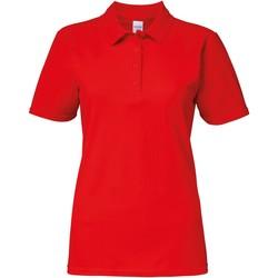 Kleidung Damen Polohemden Gildan 64800L Rot