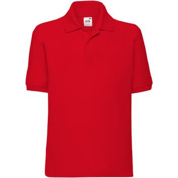 Kleidung Kinder Polohemden Fruit Of The Loom 63417 Rot