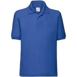 Kleidung Kinder Polohemden Fruit Of The Loom 63417 Royalblau