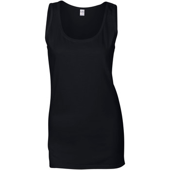 Kleidung Damen Tops Gildan 64200L Schwarz