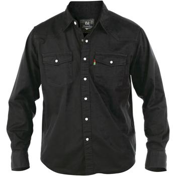 Kleidung Herren Langärmelige Hemden Duke Western Schwarz
