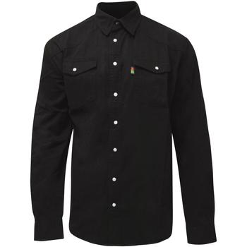 Kleidung Herren Langärmelige Hemden Duke  Schwarz