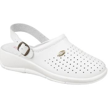 Schuhe Damen Pantoletten / Clogs Dek Swivel Weiß