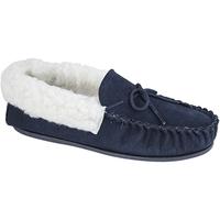 Schuhe Damen Hausschuhe Mokkers  Marineblau
