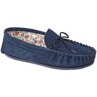 Schuhe Damen Hausschuhe Mokkers Lily Marineblau