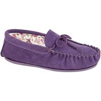 Schuhe Damen Hausschuhe Mokkers Lily Violett