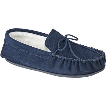 Schuhe Herren Hausschuhe Mokkers  Marineblau