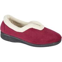 Schuhe Damen Hausschuhe Sleepers Olivia Weinrot