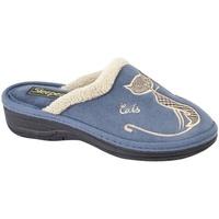 Schuhe Damen Hausschuhe Boulevard  Marineblau