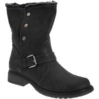Schuhe Damen Low Boots Cats Eyes  Schwarz