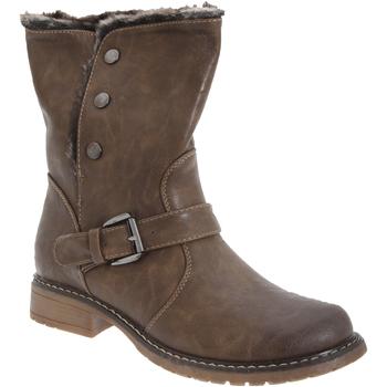 Schuhe Damen Low Boots Cats Eyes  Braun