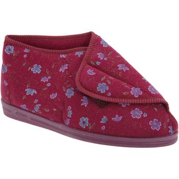 Schuhe Damen Hausschuhe Comfylux  Weinrot