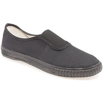 Schuhe Jungen Slip on Dek  Schwarz
