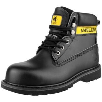 Schuhe Damen Sicherheitsschuh Amblers FS9 Schwarz
