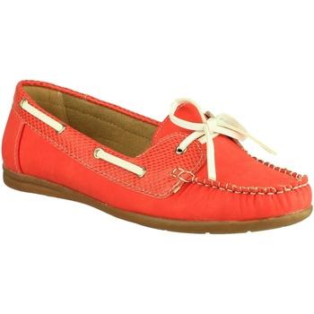 Schuhe Damen Bootsschuhe Divaz BELGRAVIA Rot