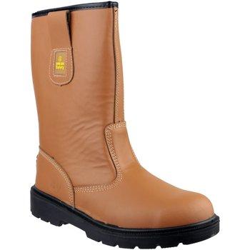 Schuhe Herren Sicherheitsschuh Amblers 124 S3 Hellbraun