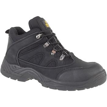 Schuhe Herren Sicherheitsschuh Amblers FS151 BLACK MID BOOT SB-P Schwarz