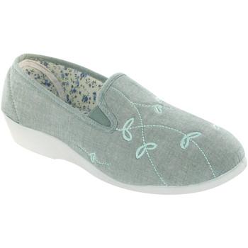 Schuhe Damen Hausschuhe Mirak BESSIE CANVAS Grün