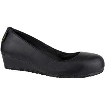 Schuhe Damen Stiefel Amblers FS107 SB HEEL Schwarz