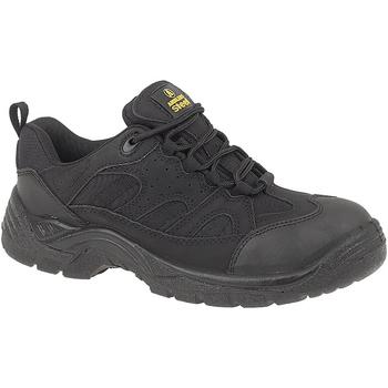 Schuhe Herren Sicherheitsschuh Amblers FS214 BLACK TRAINER SHOE Schwarz