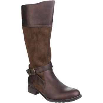 Schuhe Damen Klassische Stiefel Divaz  Braun