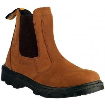 Schuhe Herren Boots Amblers FS131 SAFETY Braun