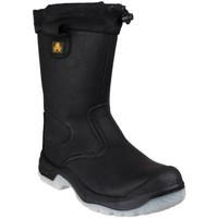 Schuhe Damen Sicherheitsschuh Amblers FS209 SAFETY Schwarz