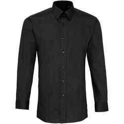 Kleidung Herren Langärmelige Hemden Premier PR204 Schwarz