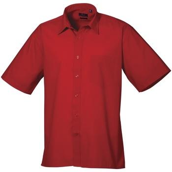Kleidung Herren Kurzärmelige Hemden Premier PR202 Rot