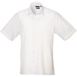 Kleidung Herren Kurzärmelige Hemden Premier PR202 Weiß