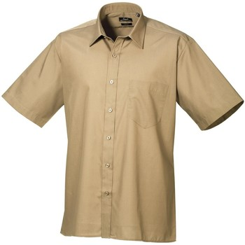 Kleidung Herren Kurzärmelige Hemden Premier PR202 Khaki