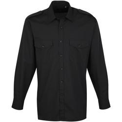 Kleidung Herren Langärmelige Hemden Premier PR210 Schwarz
