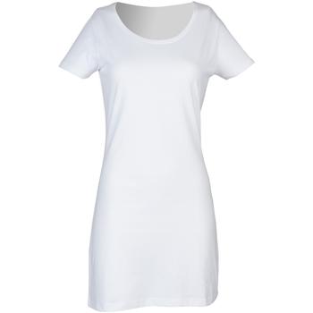 Kleidung Damen Kurze Kleider Skinni Fit Scoop Neck Weiß