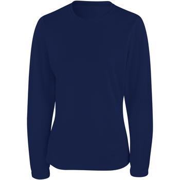 Kleidung Damen Langarmshirts Spiro S254F Marineblau
