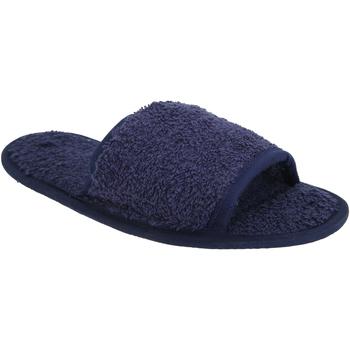 Schuhe Hausschuhe Towel City TC064 Marineblau